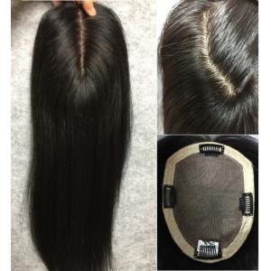 3 layers SILK TOP base 100% human hair topper wiglets top hair piece